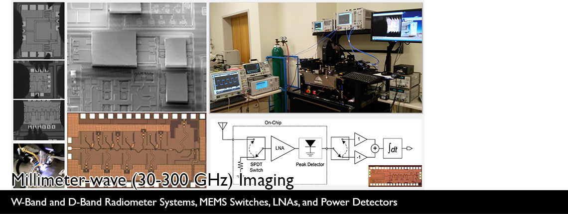 Millimeter-wave (30-300 GHz) Imaging | W-Band and D-Band Radiometer Systems, MEMS Switches, LNAs, and Power Detectors
